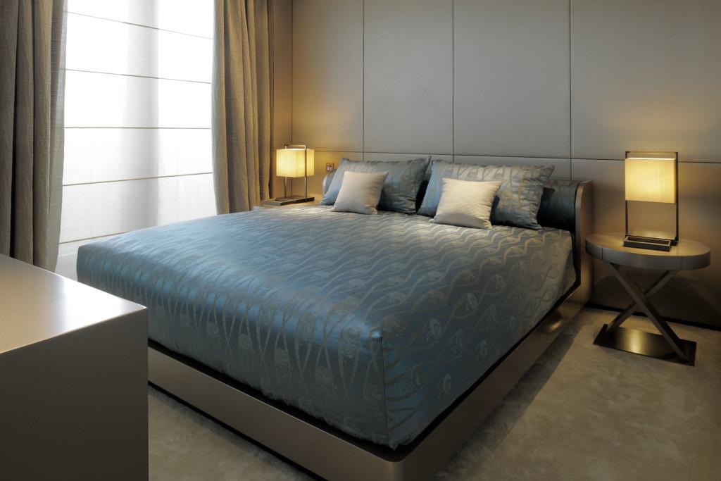 Schlafzimmer Armani Hotel