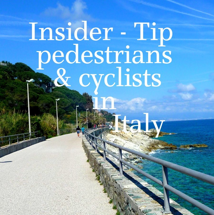 Insider Tip – wonderful street for pedestrian and cyclists in Liguria