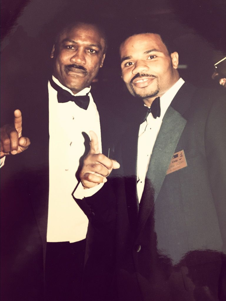 Joe Frazier and William Joppy at a black tie event in Washington DC in the 90s