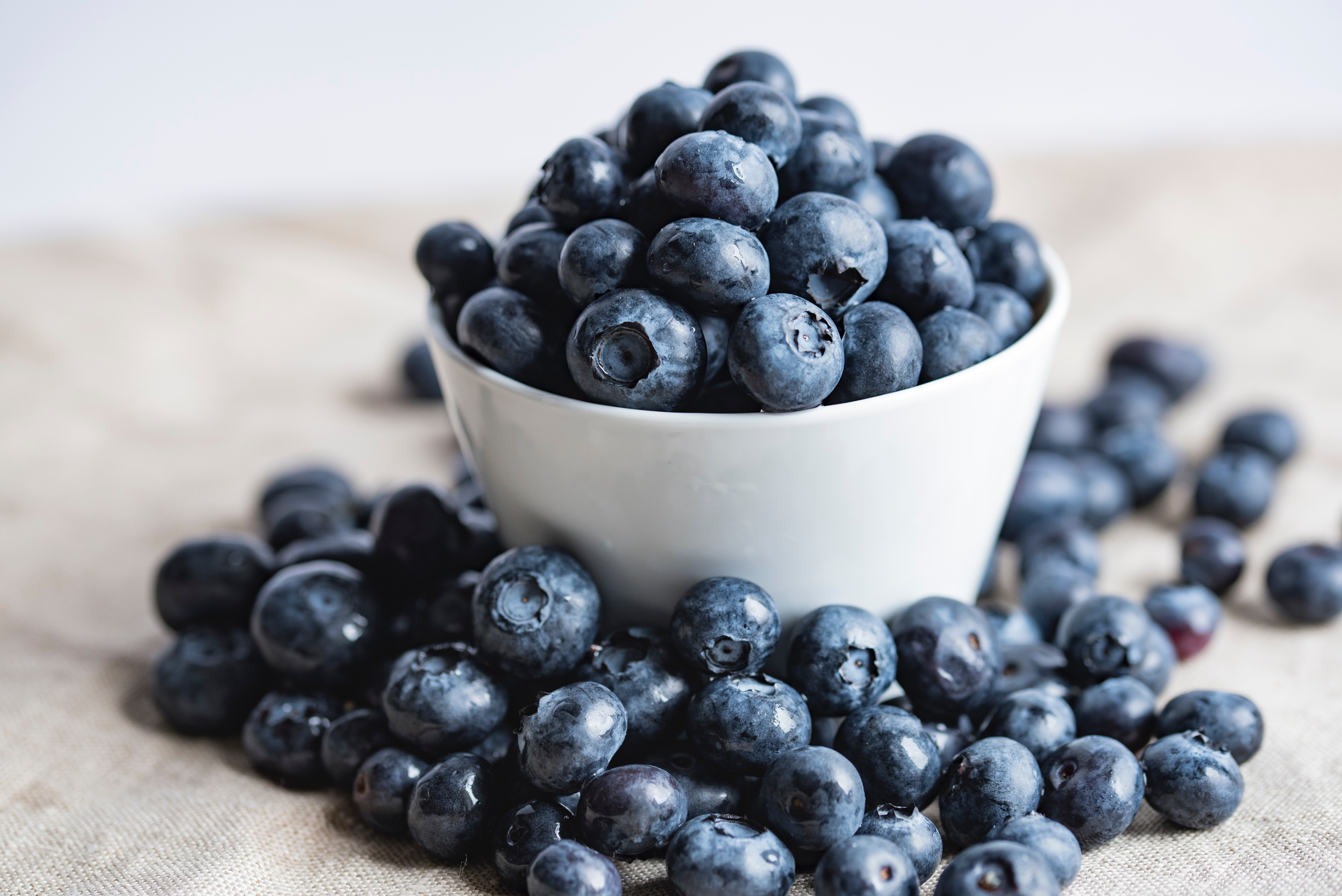 A cup with blueberries