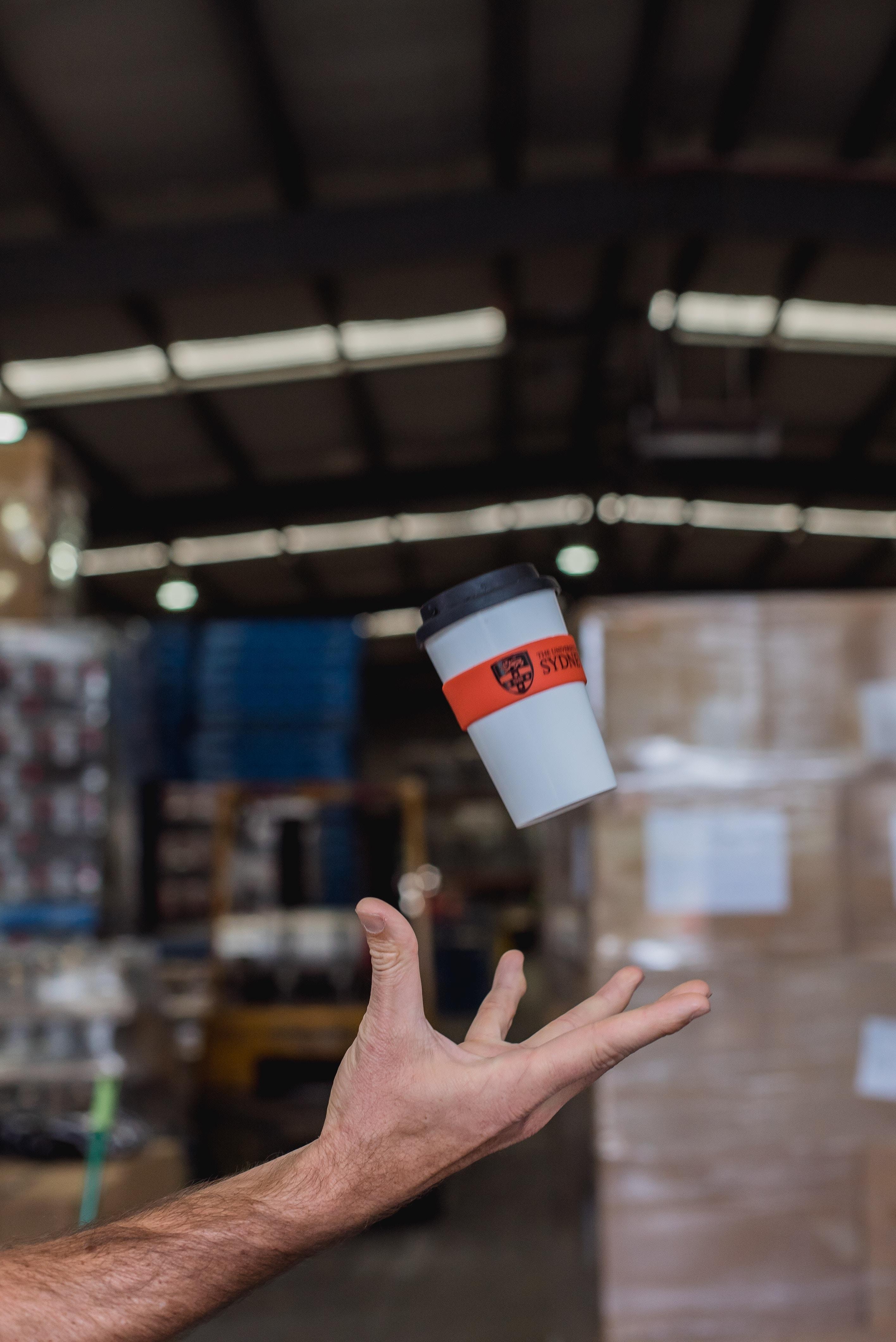 A reusable coffee-to-go-mug