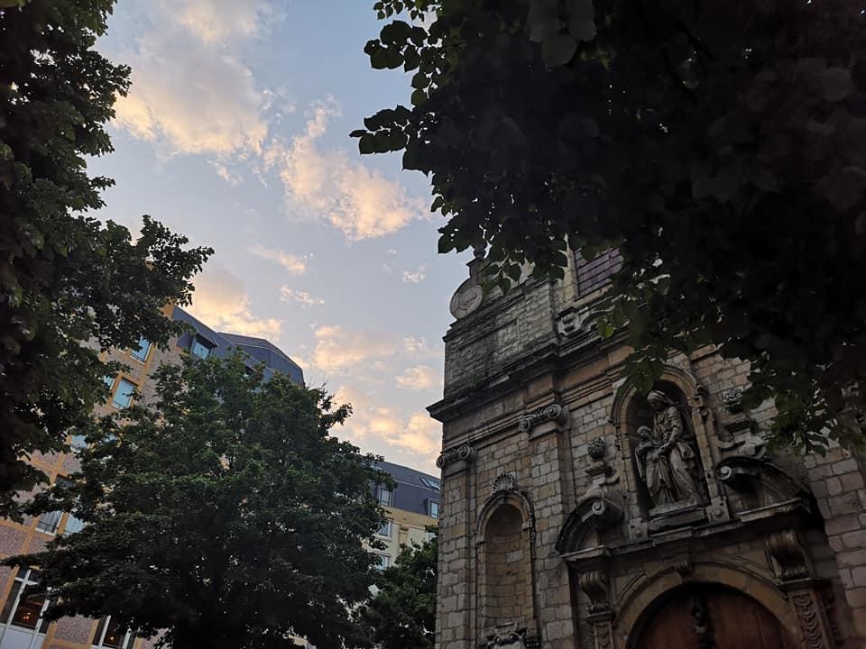 mittelalterliche Kirche im Zentrum von Brüssel