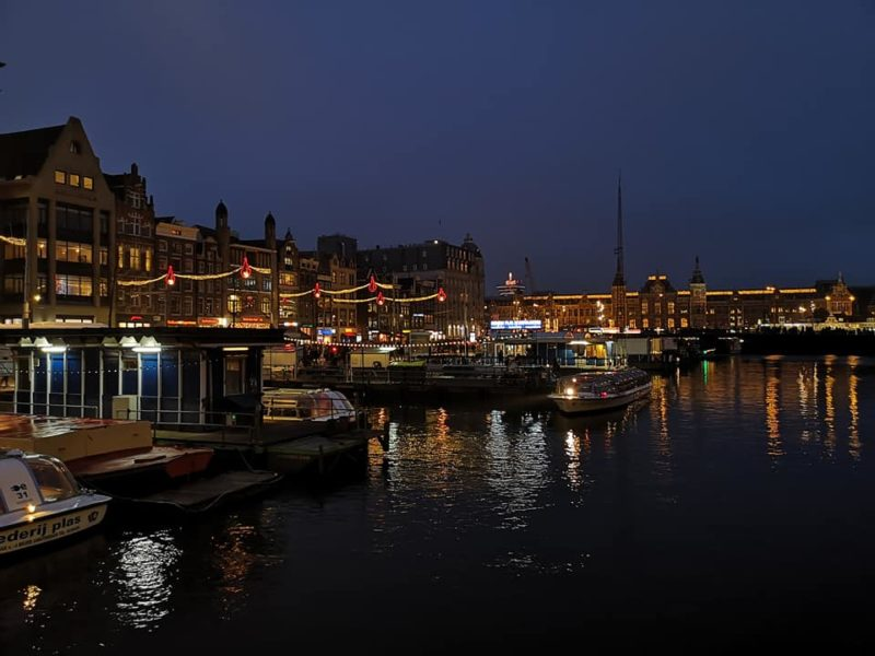 Amsterdam in bad weather