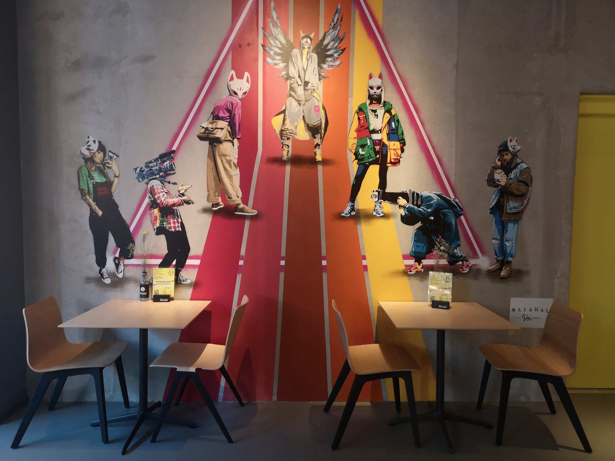 Wandbild in der Bar